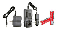 CREE LED Flashlight/Torch with Dimmer+ Two Unprotected 18650 Batteries + 18650 Battery Charger 014899 Free Shipping