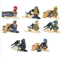 Navy Seal Team Swat Army Builder Custom SWAT Police City Officer Riot Shield building block minifigures