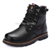 Warmest Genuine Leather Snow Boots 38~44 New 2014 Martin Men's Vintage Brand Winter Fashion Riding Autumn Rubber Bota Hunt Shoes