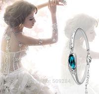 Gold/Silver Fashion Austria Crystal Shiny Elegance Bracelets Bangle Glass Shoes Charm Bracelet Accessories