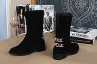 In 2014 the new leather boots Grind arenaceous boots in female qiu dong ping with cotton shoes female comfortable boots