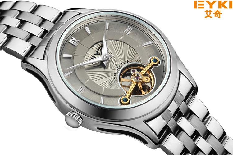 Men's Luxury Mechanical Wristwatches EYKI Top Brand Fashion&Casual Wristwatch Hollow out Men's Dress Waterproof Full Steel Watch(China (Mainland))