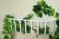 Wrought iron flower rack balcony flower hanging shelf jardiniere rural style basket cosmetic