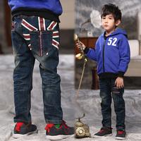Children's UK Flag Child Jeans British style  England Flag Child Pants Boys Winter 2015