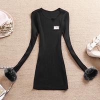 Brand new 2014 hot selling Winter women's basic shirt wool sleeve length wool sweater  free shipping