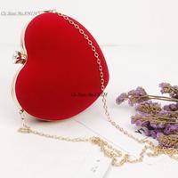 Cii Ladies small heart-shaped party clutch bag beautiful dinner shoulder bag evening bag handbag