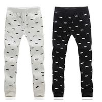 2014 new mens joggers men cotton floral prints pattern design long Pants men's trousers men Joggers Sports jogging Pants m - 5xl