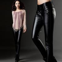 S-3XL Brand New Winter Women Faux Leather Pants Plus size XXXL Black High Waist Slim Hip Skinny PU Pencil Trousers Plus Velvet