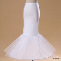 Cheap White Tulle Petticoat For Mermaid Wedding Dresses In Stock 1-Hoop 3-Layer Trumpet Crinoline Underskirt For Dresses 12009