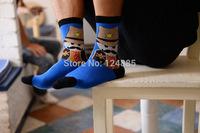 British style fashion retro cotton socks men and women couple lovers unisex casual sock 2 pairs 52273
