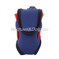 Free Shipping New Super Elastic Neoprene SBR Mini Golf Ball Bag with Hook Clip 2 Balls 4 Tees Golf ball holder