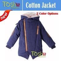 2014 New Children's Winter Hooded Thicken Velvet Outerwear Coat Kids Child Boy Winter Zipper Cotton-padded Coats Free Shipping