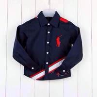 2014  Autumn Boys plaid shirt Fashion Tops coat  Brand stitching Cotton long-sleeved jacket Boys clothes Retail Free shipping