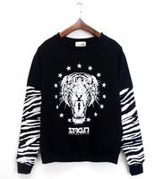 Girls Free shipping autumn selling designs of tiger prints sweatshirt sweatshirt female hedging