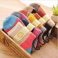 New Arrival rabbit wool women's socks Candy Colorful Women's Socks Brand Socks Women Colorful Winter Socks 10pairs/lot