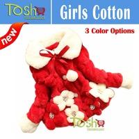2014 Winter New Children Outerwear Warm Coats For Children Girls Baby Girl Clothes High-grade Fur Coat Free Shipping