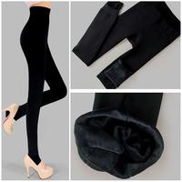 2014 plus cashmere leggings woman girls Casual Warm Winter Faux Velvet Knitted Thick Slim Leggings Super Elastic L033524