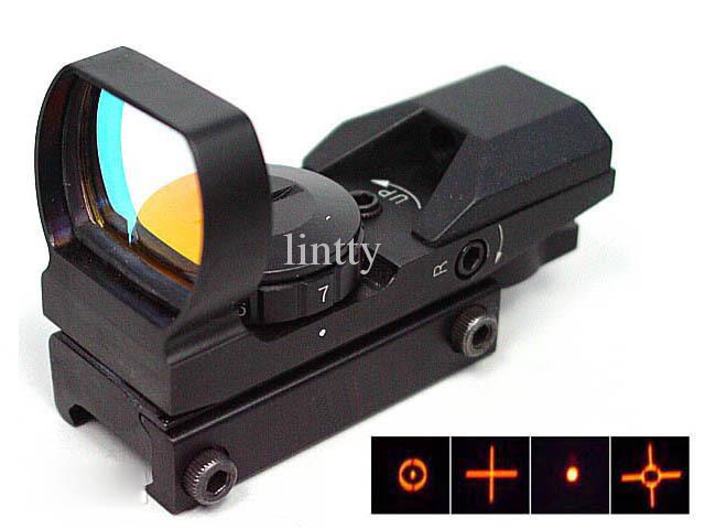 Tactical Hunting Shooting Holographic Multi 4 Reticle Red Dot Sight Reflex For handguns rifles shotguns