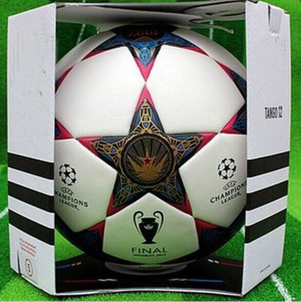 Hot Sale Thai Quality 2014 Champions League football soccer balls particles antiskid size 5 for match(China (Mainland))