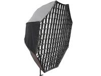 "48"" Portable Pro Octagonal Studio Strobe Light& Speedlite Flash Reflective Umbrella Softbox+Diffuser+Honeycomb Grid photography"