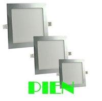 6W/9W/12W/15W/18W LED downlight square led ceiling panel light Silver frame warm white AC85~265V Free shipping 1pcs