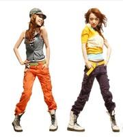Women's Clothing Fashion Women Baggy Camo Cargo Pants Girls Harem Hip Hop Dance Sweat Pants Slim Straight Casual Trousers 8689