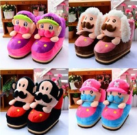 Free shipping!Cotton-padded slippers autumn and winter shoes women high bear high home cartoon package with platform female warm