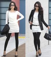 Women Fashion women Heap collar Round neck long-sleeved slim dress 2014112506
