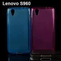 New Case for Lenovo Vibe X S960,1pcs high quality Soft TPU Silicone Case Back Cover for Lenovo S960 4Color Freeshipping
