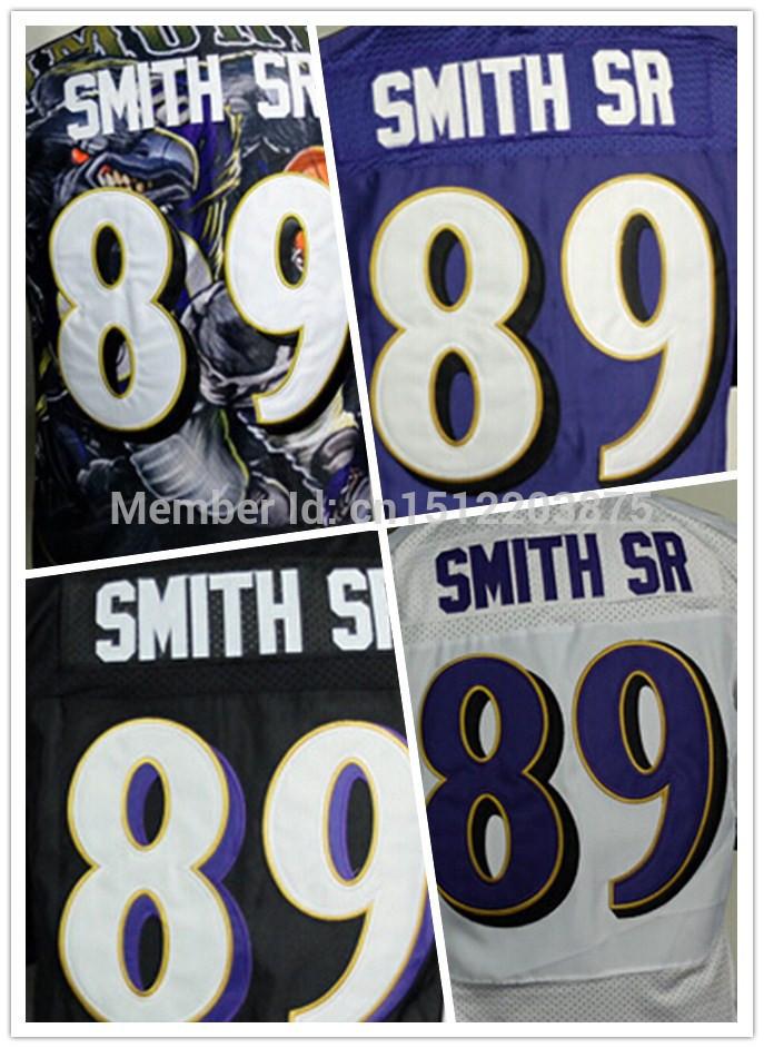 Cheap Raven American Football Jerseys 89 Steve Smith Jersey Elite Stitched jerseys Black Blue Purple Free Shipping(China (Mainland))