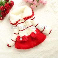New Toddler Baby Girls Faux Fur Fleece Kids Winter Warm Coat Jacket Outwear 1-5Y