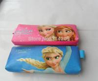 So Cute !!! 2pcs Frozen HOT Canvas Bag Pencil bag / Pencil Case with zipper
