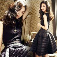 New 2015 autumn winter fashion casual dress for women thick warm all match slim vestidos sleeveless vest Dresses hot sale retail