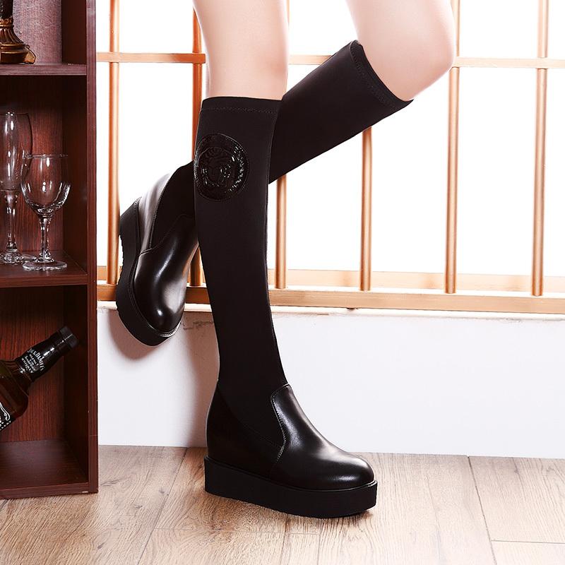 ramon moolecole 2014 novo inverno estilo 8006 overknee botas mulheres negras bombas frete grátis laço tecido respirável sandálias(China (Mainland))