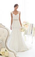 2014 Lace Wedding Dress With Sashes Elegant Mermaid Wedding Dresses Bridal Dresses  XD-320