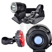 New1600 Lumens High Light Power CREE XM-L T6 LED Bicycle light/Headlamp + Bicycle Rear Light Free Shipping 014533