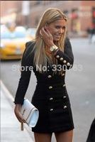 black office pencil dress 2014 new fashion office dress casual long dresses plus size women clothing roupas femininas