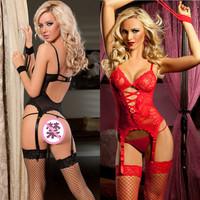 Transparent lace sexy vest spaghetti strap silk stockings the temptation to set women's