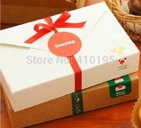 HIGH QUALITY! Free shipping 40pcs/lot  19.5*12.5*4cm fashion 350g kraft paper cake packaging box,biscuit box
