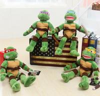 2014 TMNT 4pcs/lot the Teenage Mutant Ninja Turtles Plush Toys Movies & TV Toys & Hobbies