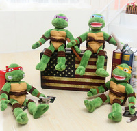 2014 TMNT 4pcs/lot the Teenage Mutant Ninja Turtles Plush Toys Movies & TV Toys & Hobbies