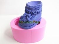 Mom&Pea 0416 Free Shipping Shoe Silicone Soap Mold Cake Decoration Fondant Cake 3D Mold Food Grade Silicone Mould