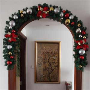 2014 New ME Portable Luxury 2.7M X 25CM Thick Mantel Fireplace Christmas Garland Pine Tree Indoor Christmas Decoration EM(China (Mainland))