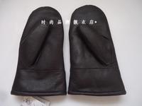 Men's cotton leather gloves  male Warm thick gloves winter mittens  gloves