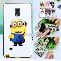For Samsung Galaxy Note 4 Note4 Hello Kitty Mickey Despicable Me Hybrid TPU + PC Back Protective Case Cover For Samsung N9100