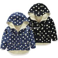 2014 winter boys clothing girls clothing child long-sleeve wadded jacket cotton-padded jacket outerwear free shipping