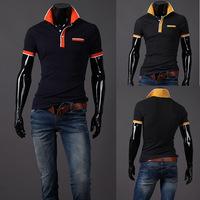 The new summer 2014 men lapel polo shirt male city boy short sleeve male