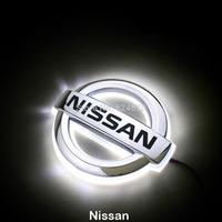 LED Car Tail Logo White light for Nissan Teana New Tiida Auto Badge Light