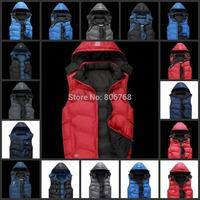 Free Shipping new men's sports vest cotton vest thick winter coat fashion coat coat anti-cold Jacket / 18 colors