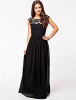2015 New Summer Women Dress Bohenmian Pleated Wave Lace Strap Princess Backless Chiffon Maxi long dress 3 Colors Hot Sell